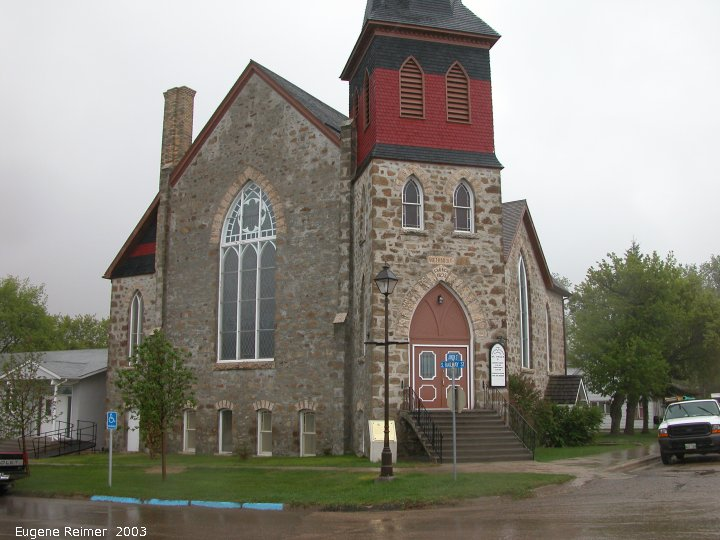 IMG 2003-May16 at WalkinshawPlace near Boissevain:  church in Boissevain
