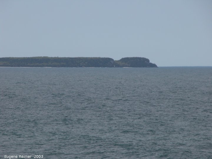 IMG 2003-May31 at Escarpment Hike near CyprusLake ON:  Flowerpot Island from mainland
