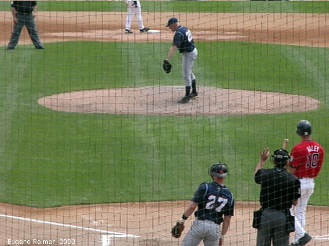 IMG 2003-Jun05 at CanWestGlobalPark:  Goldeyes-2003 pitch frame#C