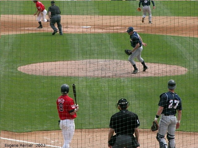 IMG 2003-Jun05 at CanWestGlobalPark:  Goldeyes-2003 steal frame#D