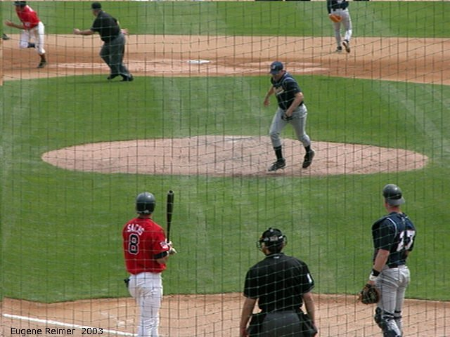 IMG 2003-Jun05 at CanWestGlobalPark:  Goldeyes-2003 steal frame#E