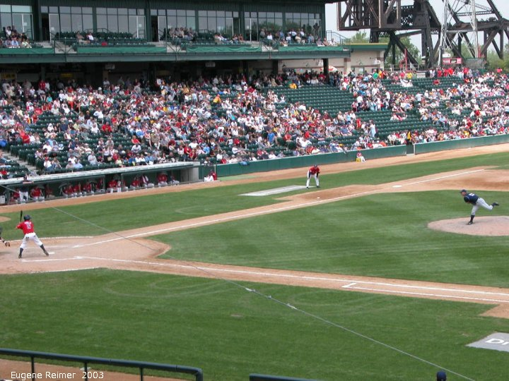 IMG 2003-Jun05 at CanWestGlobalPark:  Goldeyes-2003 continuous Hi#2