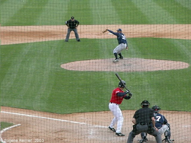 IMG 2003-Jun05 at CanWestGlobalPark:  Goldeyes-2003 double-play frame#1