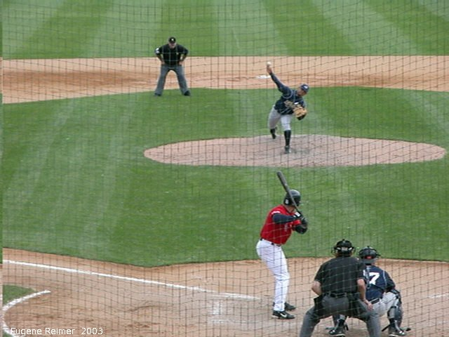 IMG 2003-Jun05 at CanWestGlobalPark:  Goldeyes-2003 double-play frame#2