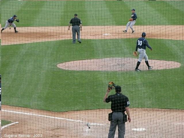 IMG 2003-Jun05 at CanWestGlobalPark:  Goldeyes-2003 double-play frame#A