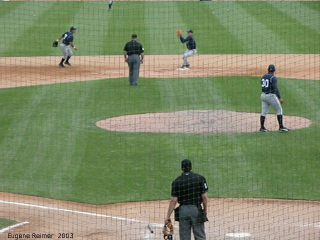 IMG 2003-Jun05 at CanWestGlobalPark:  Goldeyes-2003 double-play frame#C