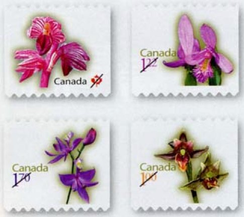 Canada-Post 2010 Orchid Definitives