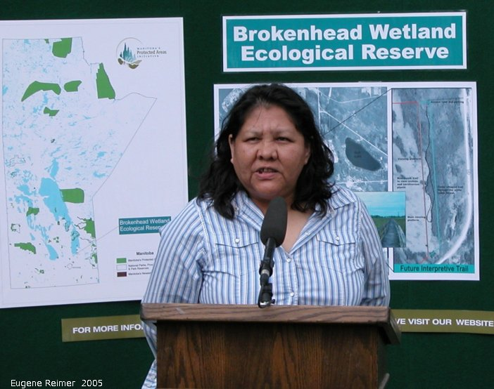IMG 2005-Jun24 at Ecological Reserve Announcement:  BWER Bev Smith