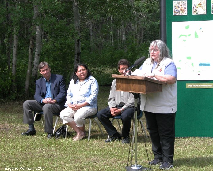 IMG 2005-Jun24 at Ecological Reserve Announcement:  BWER Doris Ames
