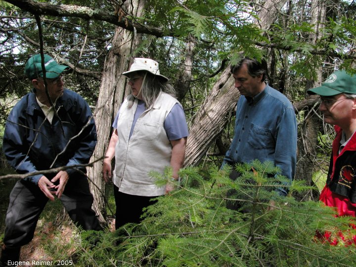 IMG 2005-Jun24 at Brokenhead Wetland Ecological Reserve first fieldtrip:  BWER Rich, Doris, Doer, Struthers