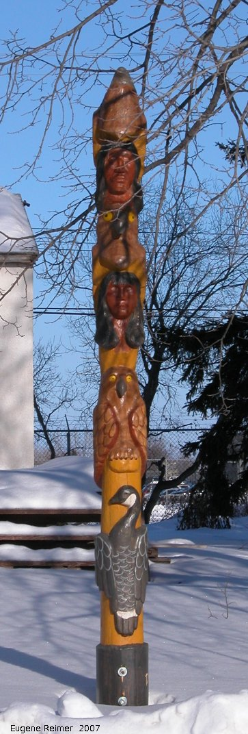IMG 2007-Jan24 at Selkirk:  totem-pole at Cook+Kitching house closer