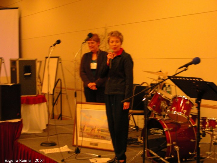 IMG 2007-Mar02 at Regina:  Marilyn Latta receiving the Prairie Conservation Award for Manitoba