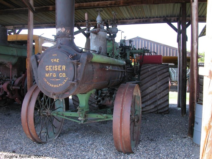 IMG 2007-May26 at WDM-Museum-Yorkton:  WDM-Museum Geiser Mfg of Waynesboro PA steam tractor