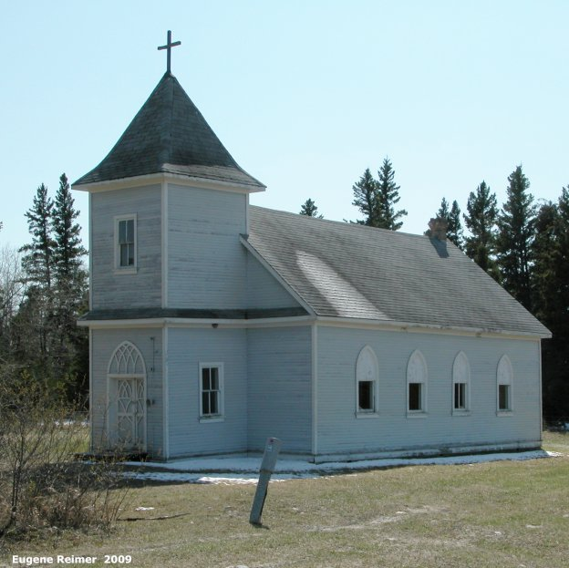 IMG 2009-May16 at Camper MB near Dog Lake:  church St-Pauls Lutheran Church in Camper MB exterior