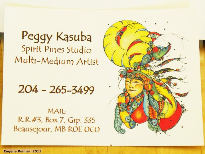IMG 2011-Mar25 at my dining-room of Peggy Kasuba art:  bizcard Peggy Kasuba